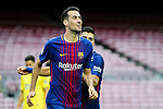 Sergio Busquets Burgos of FC Barcelona celebrates after scoring his goal during the La Liga 2017-18 match between FC Barcelona and Las Palmas at Camp Nou on 01 October 2017 in Barcelona, Spain. (Photo by Vicens Gimenez / Power Sport Images