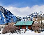 Mountain cabin at Convict Lake, Eastern Sierra, California