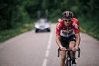 Jelle Wallays (BEL/Lotto-Soudal)<br /> <br /> Stage 6: Frontenex > La Rosière Espace San Bernardo (110km)<br /> 70th Critérium du Dauphiné 2018 (2.UWT)