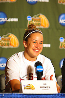 7 April 2008: Stanford Cardinal JJ Hones during Stanford's press conference for the 2008 NCAA Division I Women's Basketball Final Four championship game at the St. Pete Times Forum Arena in Tampa Bay, FL.