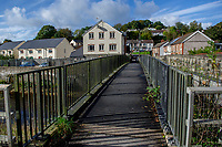 Pictured: A general view of a bridge over the River Taff next to A4054 that police have been searching in Trelewis, South Glamorgan, Rhondda Cynon Taff, Wales, UK.<br /> Re: A search of mountains and waterways is taking place after  22 year old Brooke Morris went missing following a night out.<br /> Brooke, from Trelewis near Merthyr Tydfil, disappeared after being given a lift home from the town centre in the early hours of Saturday.<br /> South Wales Police believe the Nelson RFC player did not go inside her house.<br /> Officers are continuing to search for Ms Morris following efforts by mountain rescue teams on Sunday.<br /> Ms Morris was last seen at about 2.30am on Saturday wearing a long-sleeved red top and jeans.