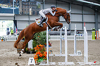 NZL-Rose Alfeld rides Eye Catcher NZPH. Class 30: Sky Sport Next 1.30m-1.35m 10K - FINAL. 2021 NZL-Easter Jumping Festival presented by McIntosh Global Equestrian and Equestrian Entries. NEC Taupo. Sunday 4 April. Copyright Photo: Libby Law Photography