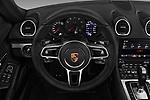 Car pictures of steering wheel view of a 2017 Porsche 718 Boxster 2 Door Convertible