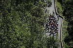 The remains of the peloton on the final climb to Saint-Martin-de-Belleville during Stage 3 of Criterium du Dauphine 2020, running 157km from Corenc to Saint-Martin-de-Belleville, France. 14th August 2020.<br /> Picture: ASO/Alex Broadway | Cyclefile<br /> All photos usage must carry mandatory copyright credit (© Cyclefile | ASO/Alex Broadway)