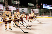 Ron Greco (BC - 28), Graham McPhee (BC - 27), Matthew Gaudreau (BC - 21), David Cotton (BC - 17) - The Boston College Eagles defeated the Providence College Friars 3-1 (EN) on Sunday, January 8, 2017, at Fenway Park in Boston, Massachusetts.