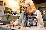 Mosaic artist Angela Sanders