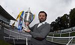 Alloa boss Paul Hartley at Hamilton racecourse for The Scottish Cup draw