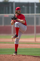 Los Angeles Angels relief pitcher Denny Brady (78) during a Minor League Spring Training game against the Cincinnati Reds at the Cincinnati Reds Training Complex on March 15, 2018 in Goodyear, Arizona. (Zachary Lucy/Four Seam Images)