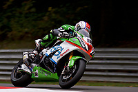 Luke Mossey (12) of JG Speedfit Kawasaki during 2nd practice in the MCE BRITISH SUPERBIKE Championships2017 at Brands Hatch, Longfield, England on 13 October 2017. Photo by Alan  Stanford / PRiME Media Images.