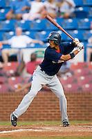 Potomac left fielder Mike Daniel (5) at bat versus Winston-Salem at Ernie Shore Field in Winston-Salem, NC, Thursday, August 2, 2007.