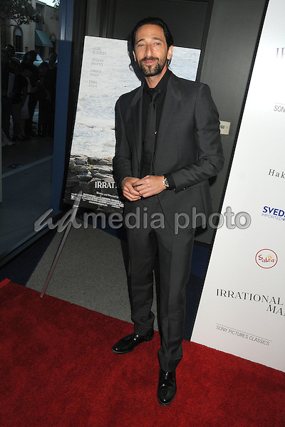 """9 July 2015 - Beverly Hills, California - Adrien Brody. """"Irrational Man"""" Los Angeles Premiere held at the WGA Theatre. Photo Credit: Byron Purvis/AdMedia"""