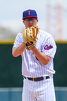 Iowa Cubs pitcher Alec Mills (9) on the mound during a Pacific Coast League game against the San Antonio Missions on May 2, 2019 at Principal Park in Des Moines, Iowa. Iowa defeated San Antonio 8-6. (Brad Krause/Four Seam Images)