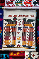 Chichicastenango, Guatemala.  Souvenir Wall Hanging for Tourists.