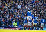 12.05.2019 Rangers v Celtic: Rangers celebrate the opening goal