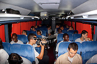 US Men's National Team on the bus. Costa Rica defeated U.S. Men's National Team 3-1 on June 3, 2009 at Saprissa Stadium in San Jose, Costa Rica..