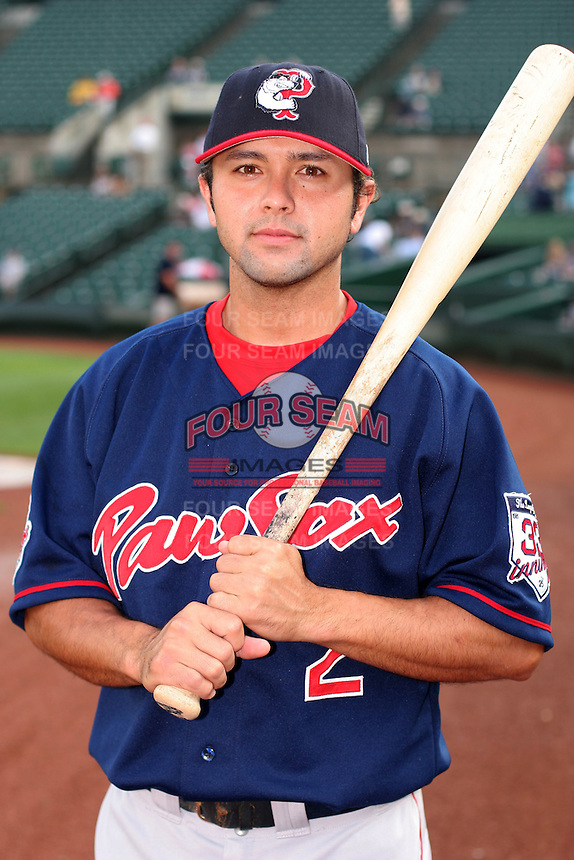 Pawtucket Red Sox Keoni De Renne during an International League game at Frontier Field on July 4, 2006 in Rochester, New York.  (Mike Janes/Four Seam Images)