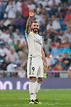 Karim Benzema of Real Madrid celebrates during the La Liga 2018-19 match between Real Madrid and CD Leganes at Estadio Santiago Bernabeu on September 01 2018 in Madrid, Spain. Photo by Diego Souto / Power Sport Images