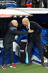 Real Madrid's coach Zinedine Zidane and Sevilla FC's  coach Jorge Sampaoli during Copa del Rey match between Real Madrid and Sevilla FC at Santiago Bernabeu Stadium in Madrid, Spain. January 04, 2017. (ALTERPHOTOS/BorjaB.Hojas)