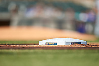 A close-up of first base during the Arizona Fall League Championship Game between the Salt River Rafters and Surprise Saguaros on October 26, 2019 at Salt River Fields at Talking Stick in Scottsdale, Arizona. The Rafters defeated the Saguaros 5-1. (Zachary Lucy/Four Seam Images)