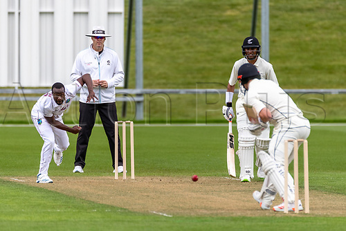 20th November 2020; John Davies Oval, Queenstown, Otago, South Island of New Zealand. West Indies Kemar Roach bowls
