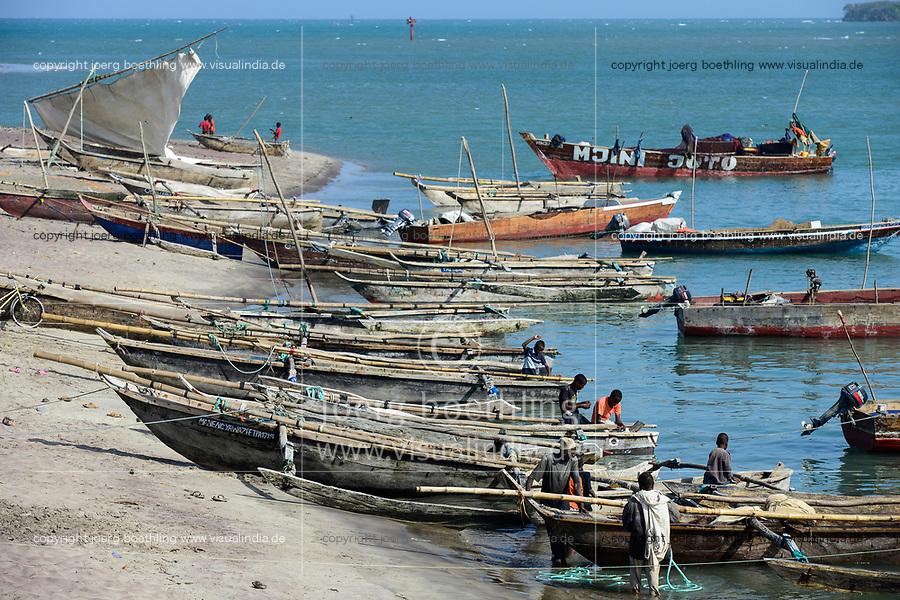 TANZANIA Tanga, Pangani, wooden boats at indian ocean