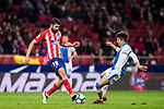 Diego Costa (L) of Atletico de Madrid fights for the ball with Unai Bustinza, Bustinza M, of CD Leganes during the La Liga 2017-18 match between Atletico de Madrid and CD Leganes at Wanda Metropolitano on February 28 2018 in Madrid, Spain. Photo by Diego Souto / Power Sport Images