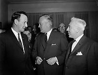 Le Premier ministre Jean Lesage , entre le 9 et 16 Decembre 1960<br /> PHOTO  : Agence Quebec Presse - Photo Moderne