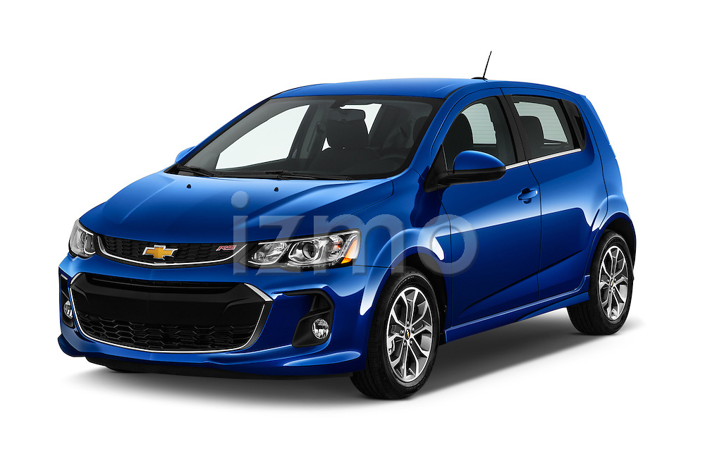 2017 Chevrolet Sonic LT 5 Door Hatchback Angular Front stock photos of front three quarter view