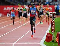 06 JUL 2012 - PARIS, FRA - David Rudisha of Kenya wins the men's 800m race during the 2012 Meeting Areva held in the Stade de France in Paris, France (PHOTO (C) 2012 NIGEL FARROW)