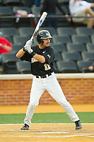 Pat Blair (11) of the Wake Forest Demon Deacons at bat against the North Carolina State Wolfpack at Wake Forest Baseball Park on March 16, 2013 in Winston-Salem, North Carolina.  The Demon Deacons defeated the Wolfpack 13-4.  (Brian Westerholt/Four Seam Images)