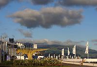 Saurier am Hafen von Ponta Delgada auf der Insel Sao Miguel, Azoren, Portugal