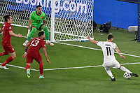 action of the goal of Domenico Berardi of Italy during the Uefa Euro 2020 Group stage - Group A football match between Turkey and Italy at stadio Olimpico in Rome (Italy), June 11th, 2021. Photo Andrea Staccioli / Insidefoto
