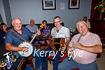 Tom O'Connell Castleisland Adrian Kelleher Millstreet and Dave Doody Mountcollins enjoyning the craic as they returned to playing a session  in Kearney's Bar Castleisland on Tuesday evening