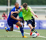 Aston Villa plays Leicester City during the HKFC Citibank International Soccer Sevens at the Hong Kong Football Club on 26 May 2013 in Hong Kong, China. Photo by Victor Fraile / The Power of Sport Images