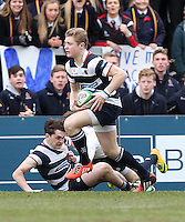 MCB vs Wallace High School | Thursday 5th March 2015<br /> <br /> Ryan Wilson during the 2015 Ulster Schools Cup Semi-Final between Methody and Wallace High School at the Kingspan Stadium, Ravenhill Park, Belfast, Northern Ireland.<br /> <br /> Picture credit: John Dickson / DICKSONDIGITAL
