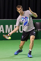 11-02-14, Netherlands,Rotterdam,Ahoy, ABNAMROWTT,Andy Murray<br /> Photo:Tennisimages/Henk Koster