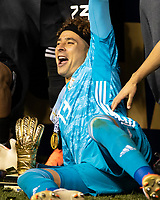 CHICAGO, IL - JULY 7: Jonathan Orozco #1 after winning the golden glove award during a game between Mexico and USMNT at Soldier Field on July 7, 2019 in Chicago, Illinois.