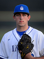 IMG Academy Ascenders pitcher Brett Hanewich (2) poses for a photo after a game against the Arlington Country Day Apaches at IMG Academy on March 5, 2013 in Bradenton, Florida.  (Mike Janes/Four Seam Images)