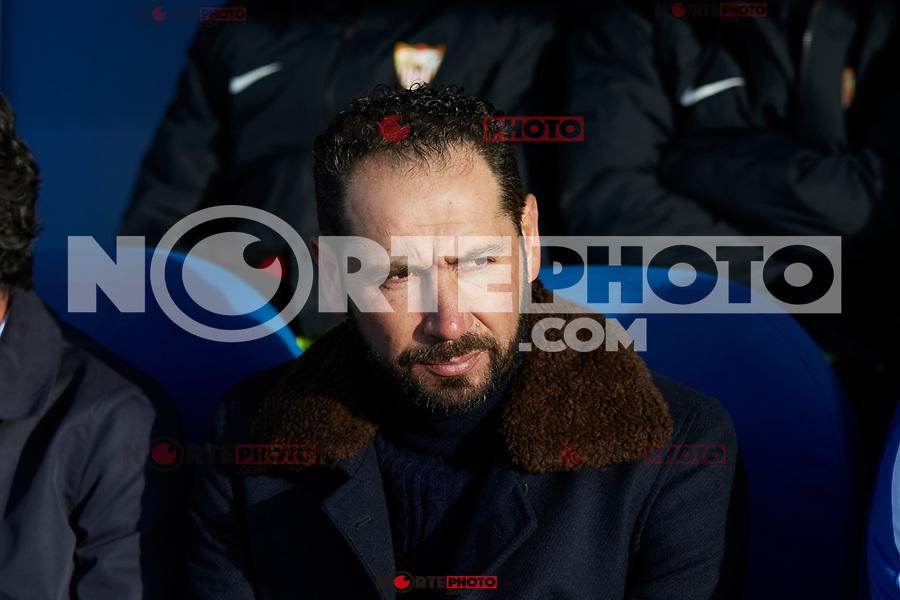 Sevilla FC's coach Pablo Machin during La Liga match between CD Leganes and Sevilla FC at Butarque Stadium in Leganes, Spain. December 23, 2018. (ALTERPHOTOS/A. Perez Meca) /NortEPhoto.com
