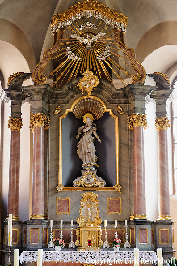 Altar in der Franziskanerkirche, Miltenberg in Unterfranken, Bayern, Deutschland
