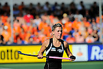 The Hague, Netherlands, June 07: Gemma Flynn #22 of New Zealand looks on during the field hockey group match (Men - Group A) between England and Australia on June 7, 2014 during the World Cup 2014 at Kyocera Stadium in The Hague, Netherlands. Final score 1-4 (0-1) (Photo by Dirk Markgraf / www.265-images.com) *** Local caption ***