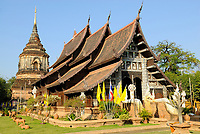 Old buddhist temple in Chiang Mai, Thailand, Southeast Asia.