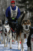August Galloway on the trail during the John Beargrease Sled Dog Marathon.