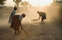 Female competitors at the Twic Olympics in Wunrok, Southern Sudan not only compete, but also cook and clean during the competition.