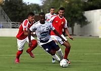 BARRANQUILLA - COLOMBIA, 07-03-2021: Barranquilla F. C. y Atletico F. C. durante partido de la fecha 10 por el Torneo BetPlay DIMAYOR 2021 en el estadio Romelio Martinez en la ciudad de Barranquilla. / Barranquilla F. C. and Atletico F. C. during a match of the 10th for the BetPlay DIMAYOR 2021 Tournament at the Romelio Martinez stadium in Barranquilla city. Photo: VizzorImage / Jairo Cassiani / Cont.