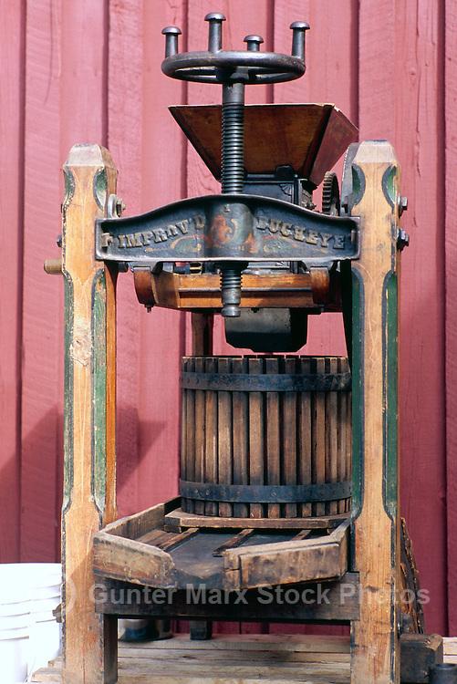 Vintage Basket Apple Press (built 1867) - Old Juice Maker