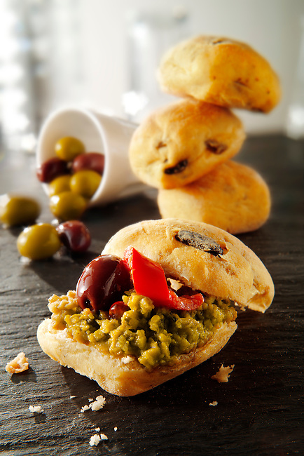 chiabatta rolls with olive tapanade