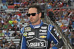 Sprint Cup Series driver Jimmie Johnson (48) in action before the NASCAR Sprint Cup Series AAA 500 race at Texas Motor Speedway in Fort Worth,Texas.