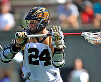 24 August 2008: Rochester Rattlers' Attackman John Grant in action against the Denver Outlaws during the Championship Game of the Major League Lacrosse Championship Weekend at Harvard Stadium in Boston, MA. The Rattles defeated the Outlaws 16-6 to take the league honor for the 2008 season...Mandatory Photo Credit: Ed Wolfstein Photo