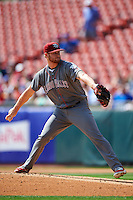 Lehigh Valley IronPigs starting pitcher Ben Lively (19) during a game against the Buffalo Bisons on August 28, 2016 at Coca-Cola Field in Buffalo, New York.  Lehigh Valley defeated Buffalo 5-2.  (Mike Janes/Four Seam Images)